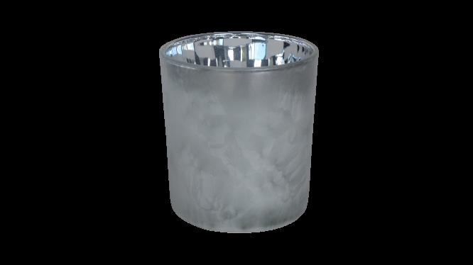 dennenboom grijs zilver kaars
